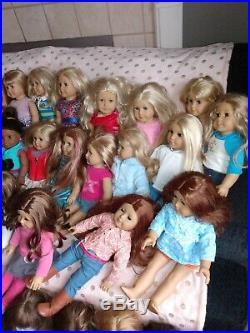 40 American Girl with 12 Pleasant Company Dolls Collection &more, read description