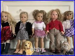 5 american girl dolls used