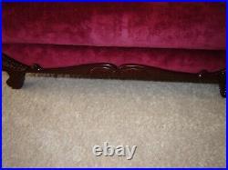 AMERICAN GIRL DOLL 18 inch REBECCA VICTORIAN COUCH red sette sofa retired