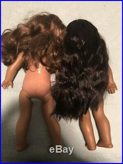 AMERICAN GIRL DOLL LOT 2 dolls Kaya and Marisol Great used condition