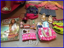 AMERICAN GIRL DOLL Lea Clark + Clothes + Accessories + Motorcycle