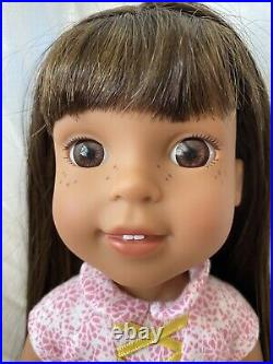 AMERICAN GIRL DOLL Wellie Wishers CAMILLE WILLA ASHLYN LOT Red Blond Brown Hair