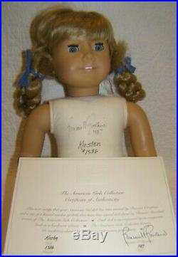 AMERICAN GIRL Kirsten Signed & Numbered White Body Pleasant Co West Germany