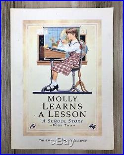 AMERICAN GIRL Molly McIntire DOLL PLEASANT COMPANY LOT Clothes Accessories BOX