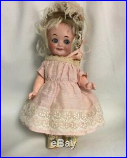 Adorable AM 323 8Googly With Original Pink Silk Dress And Hat With Pink Plumes