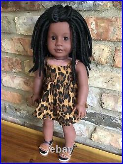 Alice Custom OOAK African American Girl Doll Addy Black Hair Brown Eyes