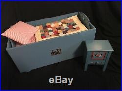 AmericanGirl Pleasant Company Kirsten Sweet Dreams Trunk Box, Bed, Wash Stand RARE