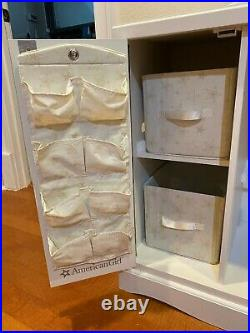 American Girl 18Doll Storage Cabinet wardrobe Retired