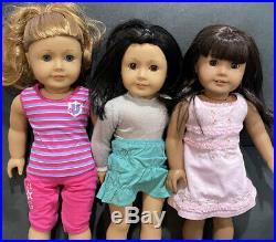American Girl 18 Doll Lot of 3 dolls