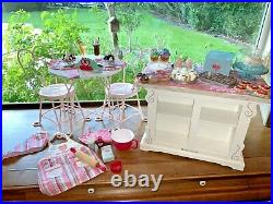 American Girl 18 Sweet Treats Bakery, Table & Chairs, Accessories, LARGE Lot