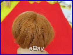 American Girl Barbie Doll Marked 1958 Mattel Titian Red Hair Bend Legs No Pierce