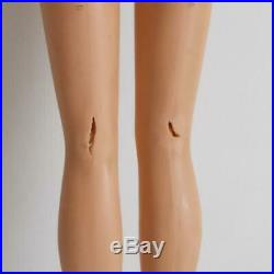 American Girl Barbie Doll Pale Blonde Lemon Yellow Hair Bend Leg 1966 -Flaws