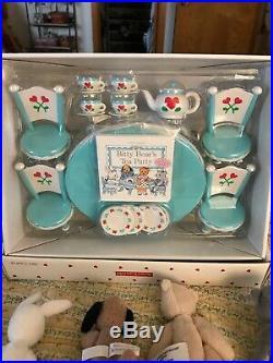 American Girl Bitty Baby Tea Set With Bitty Baby Bunch