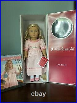 American Girl Caroline Abbott With Box And Book Display Doll Catalog