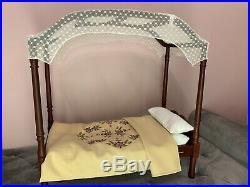 American Girl Caroline Canopy Bed And Bedding