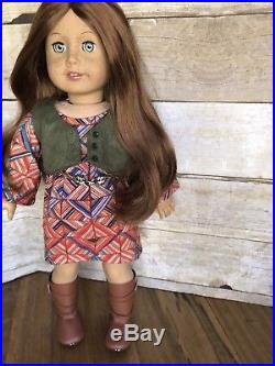 American Girl Custom OOAK Laurel Red Hair Blue Eyes Freckles