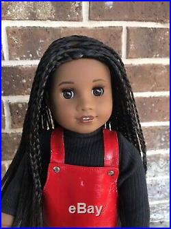 American Girl Custom Sonali Mold Doll With Braids And Makeup