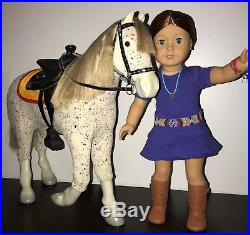 American Girl Doll 2013 Saige Copeland +Rembrandt+Horse Picasso, FREE SHIPPING