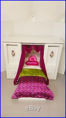 American Girl Doll 3 In 1 White Murphy Bed-Retired