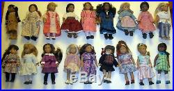 American Girl Doll 6 Mini Doll Lot 18 Displayed Only, No Boxes, Complete