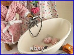American Girl Doll Accessories (Used) Bathtub, Shower, Robe, Hair Salon Set