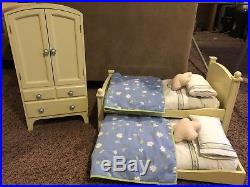 American Girl Doll Armoire And Trundle Bunk Beds Flower