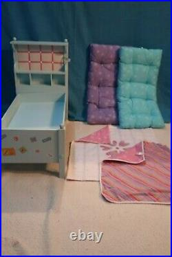 American Girl Doll Bouquet Bed Set/Bouquet Bedding with Nightstand Used