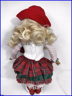 American Girl Doll Custom OOAK Christmas Holiday Curly Blonde Hair Blue Eyes