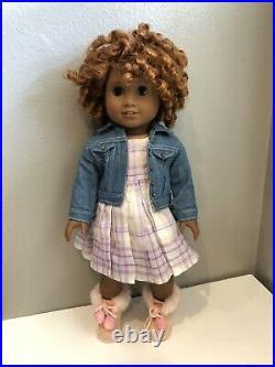 American Girl Doll Custom OOAK Sonali Mold Dark Skin African American Red Hair