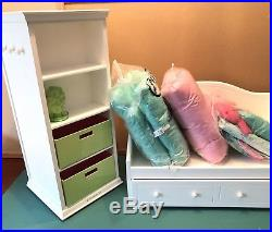 American Girl Doll Dreamy Daybed With Dreamy Bedding & Storage Tower- Retired