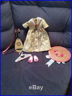 American Girl Doll Felicity's Tea Dress and Accessories / Used, Lived In Box