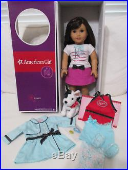 American Girl Doll Grace Thomas 2015 with box, Outfit, Bracelet, Bon Bon, Coat LOT
