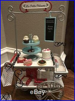 American Girl Doll Grace's PASTRY CART Set + BAKERY TREATS Accessories
