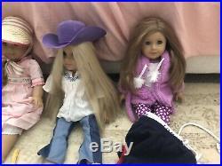 American Girl Doll Huge Lot Caroline Julie Sage 4 Dolls, Accessories, Clothes