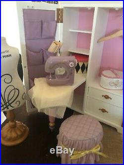 American Girl Doll Isabelle's Studio Armoire Dance Ballet Sewing Set
