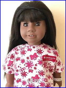 American Girl Doll JLY18 #18 GT18 Dark Skin Black Hair Brown Eyes Bangs Addy 18