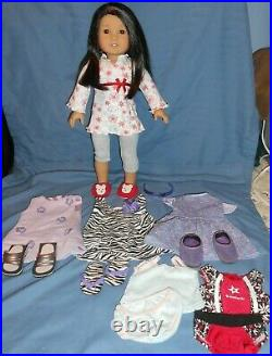 American Girl Doll JLY# 30 WITH NEW HEAD AND 6 EXTRA OUTFITS AWESOME LOT
