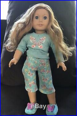 American Girl Doll Jly Blonde And Black Hair Lot