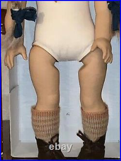 American Girl Doll KIRSTEN +Box White Body Meet Dress W. Germany 1986 EXC Cond