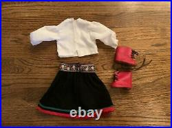 American Girl Doll KIRSTEN'S Winter Outfit Skirt & Blouse Pleasant Co And Boots