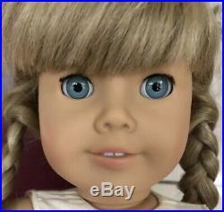 American Girl Doll KIRSTEN White Body Deep Blue Eyes! Pleasant Company In BOX