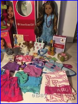 American Girl Doll Kanani Pierced Ears & her Aloha World LOT Excellent Condition