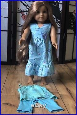 American Girl Doll Kanani girl of the year 2011 GOTY Meet Dress Pajama Set EUC