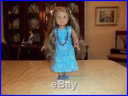 American Girl Doll Kanani with necklace
