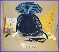 American Girl Doll Kirsten On The Trail Outfit Socks Book Pleasant Company Rare