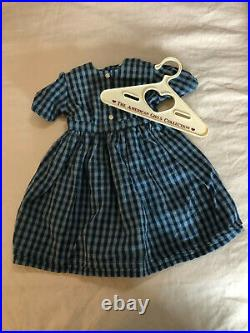 American Girl Doll Kirsten On the Trail Checked Dress Shawl Outfit RETIRED