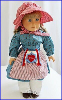 American Girl Doll Kirsten Original Dress Apron Handkerchief & Penny'94 Retired
