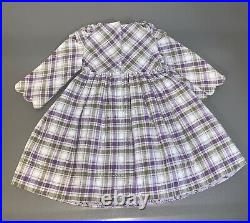 American Girl Doll Kirsten's Purple Plaid Promise Dress and Shawl RARE/VGUC