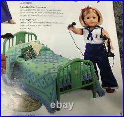 American Girl Doll Kit Kittredge Bed Scooter Outfits & Accessories LOT