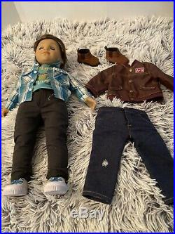 American Girl Doll Logan with Two Outfits and Underwear Some Modifications